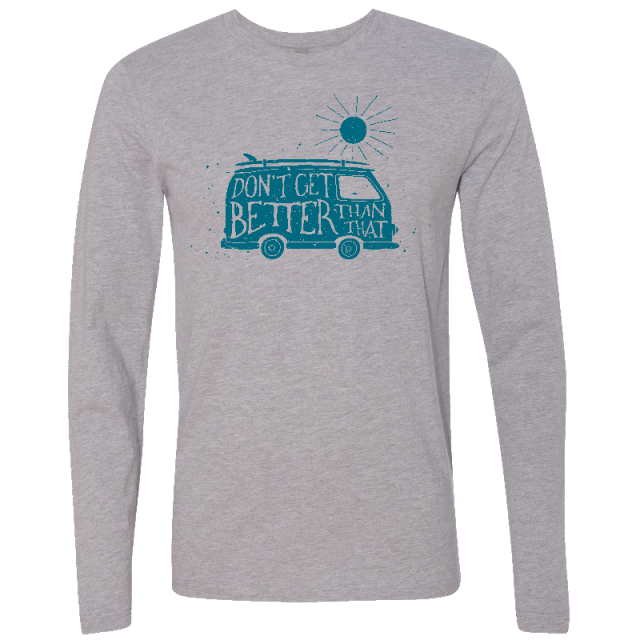 Long Sleeve Heather Grey Van Tee